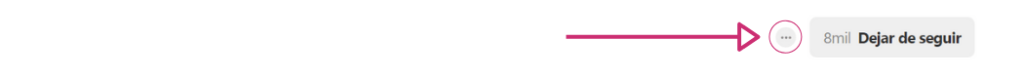 Captura de pantalla para explicar cómo bloquear un usuario en Pinterest si su cuenta es de empresa.