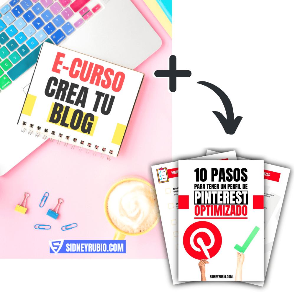 "E-curso ""Crea tu blog"" + checklist Pinterest SEO"